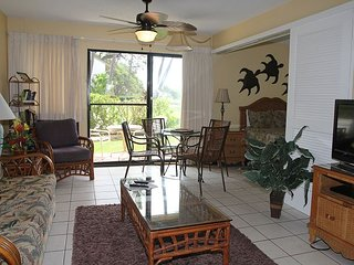 Maui Ground Floor Ocean View Condo in Beachfront Resort, Great Value 1 BR/1BA