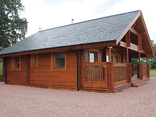 Pine Lodge situated close to Edinburgh is a traditional Scandinavian lodge.