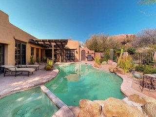 NEW LISTING! Southwest charm w/saltwater pool & hot tub at Boulders Resort