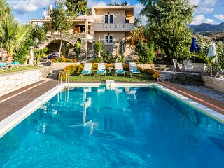 Villa Elisa, View+Hidden in Trees with pool and organic garden!