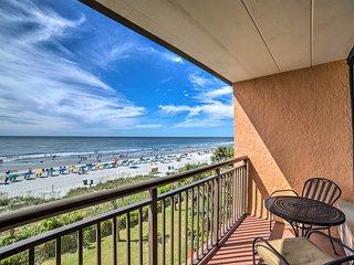 NEW! Oceanfront Myrtle Beach Studio w/Pool Access!