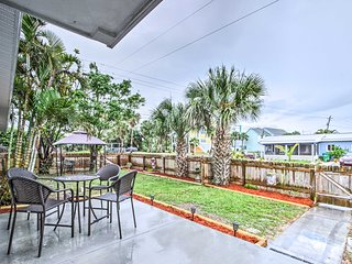 NEW! Apt w/Backyard & Grill-Steps from Cocoa Beach