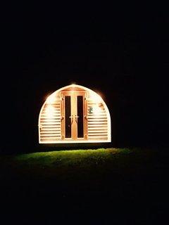 A cosy retreat at night.