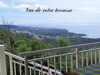 Côté Caraïbes : Studio Koté Ka avec très belle vue entre mer & forêt tropicale !
