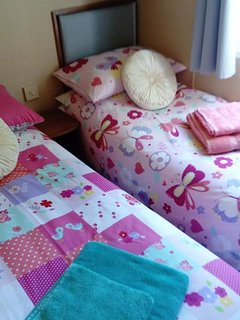 Twin room all set up for 2 little girls arrival