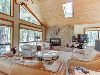 Contemporary home w/ deck, on-site golf, shared pool, hot tubs, & sauna!