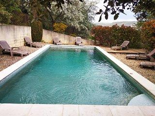 Luberon-provence Mas 4 ch piscine securisee clim, superbe vue Colorado Provenca