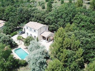 Luberon-Provence Mas 4 ch piscine sécurisée clim superbe vue Colorado Provençal