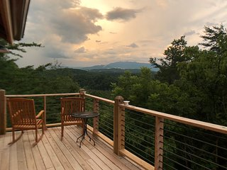 Amazing View wrap around deck .  2 bedroom 2 bath behind Dollywood.