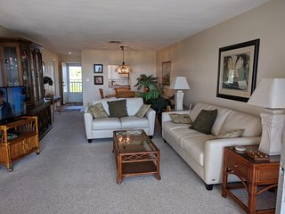 The living room has a full views of the Gulf, big screen tv and WIFI.