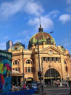 Historical Flinders Street Station.