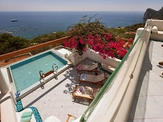 Tastefully furnished VILLA ARIADNE 1 with dazzling sea view, Jacuzzi and pool
