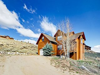 4BR w/ Epic Game Room & Views - 1 Mile to Granby Ranch Ski Resort