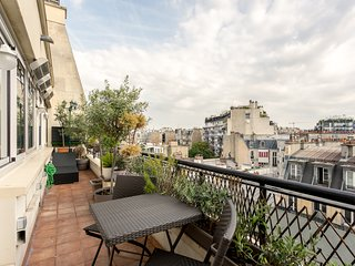Flat full Terrace view Eiffel Tower