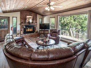 Cabin near Downtown w/ WiFi, Fireplace, Grill, Big Screen TV & Conservation View