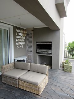 Protected patio, gas BBQ
