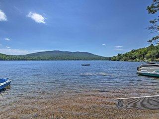 NEW! Rustic Lakefront Rumney Cabin w/ Shared Dock!