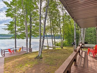 Lakefront Manistique Cabin w/Private Dock+Fire Pit