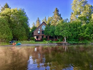 AFTICA Luxury Lakefront Cottage Rental Laurentians Quebec