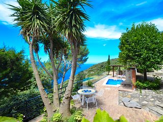 Beautiful VILLA BACCO with stunning sea view, pool, garden and terrace