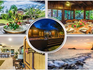 Last Min Nov.Specials~Sleeps 8~Hot tub~Waterfall~Steps to Amazing Beach!