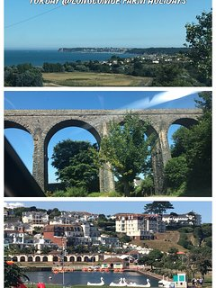 Steam railway that goes from Paington to Dartmouth and great way to see the coast and river Dart