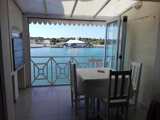 Waterfront family apartment in safe gated community