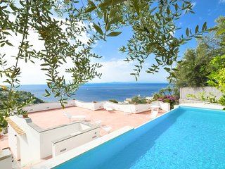Sunny and bright VILLA L'INCANTO with pool, terrace, parking and sea view