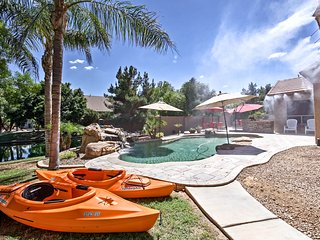 Lakefront Chandler Home - Kayaks, Boat, Pool, Dock