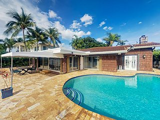 Oceanside Paradise 4BR w/ Private Heated Pool & Intracoastal Waterway Views