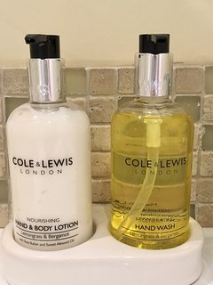 luxury Cole & Lewis toiletries