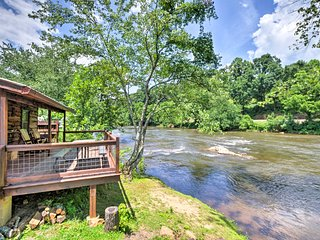 NEW! Sylva Cabin Directly on Tuckaseigee River!