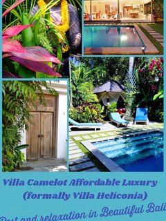 This pic is showing tropical Tranquility at   Villa Camelot   in Bali