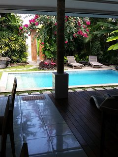 Sparkling vlear and beautiful pool at ....VILLA CAMELOT..