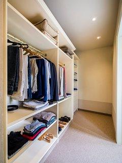 Walk-in closet (Master Bedroom)