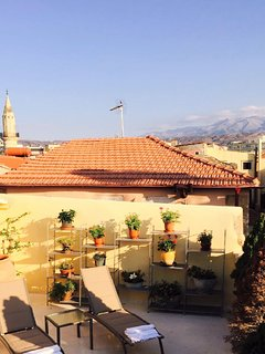 overlooking the 2 Minarets of the old Town