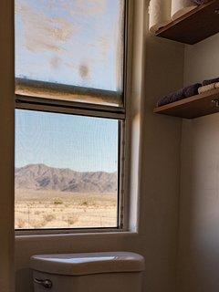 Even the bathroom has views.