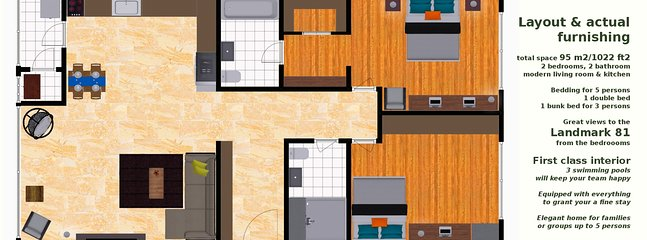 Layout and actual fittings