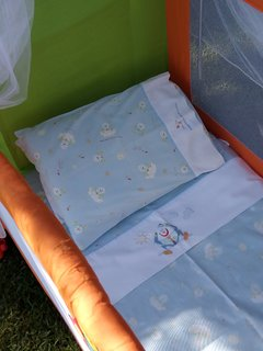 Baby cot complete with bedding for girls or boys on demand. No charge