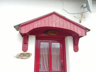 Front door of cottage