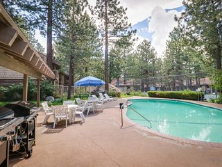 NEW LISTING! Rustic condo w/ shared pool and hot tub, grills, and game room!