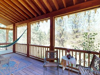 NEW LISTING! Secluded cabin w/ a full kitchen, forest views, & trails - dogs OK!