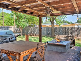 NEW! Rustic Farm Home w/ Fire Pit Near TTU!