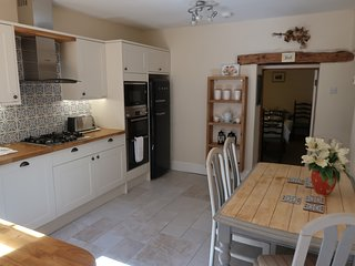 Kitchen with double oven, built in microwave and dishwasher