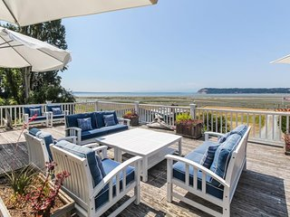 NEW LISTING! Spacious and modern home with huge deck overlooking Useless Bay!