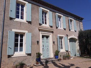 Vigneron's house in a lively village