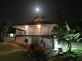 Full moon over Sandy Bay Cottage, July 2018