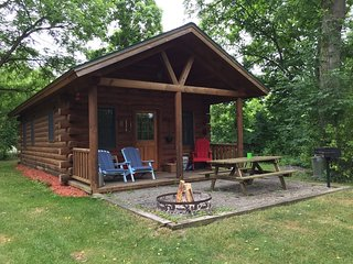 Glamping Cabin in Natl Forest - pet-friendly, fully furnished, hot tub, bkfst!!