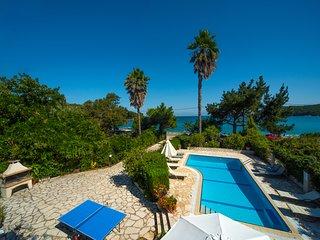 Avlaki Beach House,a stylish villa,opening onto extraordinary beach