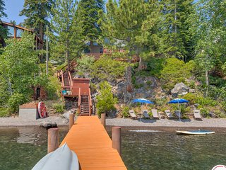 Charming Lakefront Cabin with Private Pier